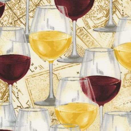 Timeless Treasures wine country fabric Grape leaves fabric