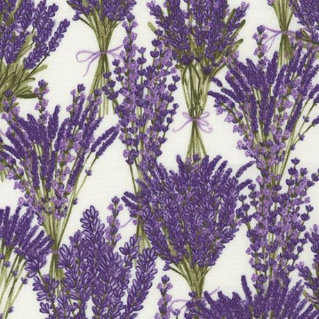Floral Lavender Purple CANVAS LINEN from Cosmo Spring Blooms